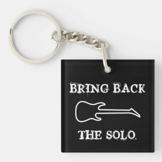 Bring Back The Solo Guitar Music Keychain