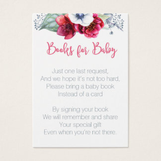 Bring Book for Baby Shower insert card