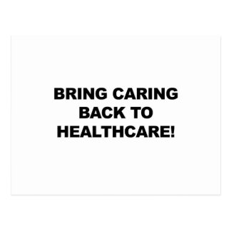 Bring Caring Back to Healthcare Postcard