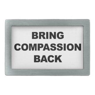 Bring Compassion Back Rectangular Belt Buckles