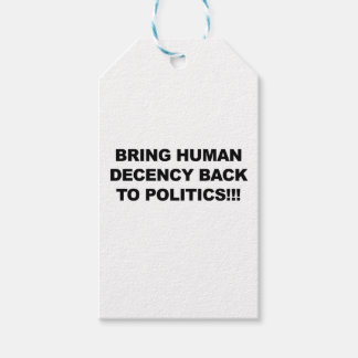 Bring Human Decency Back Pack Of Gift Tags