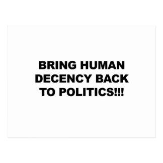 Bring Human Decency Back Postcard