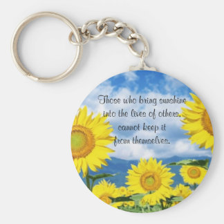 Bring in the Sunshine Basic Round Button Keychain