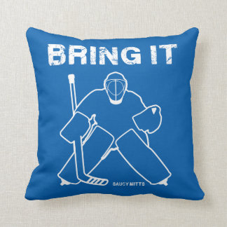 Bring It Hockey Goalie Reversible Throw Pillow