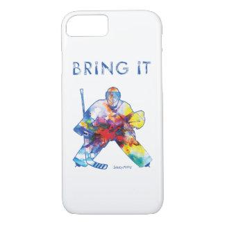 Bring It Hockey Goalie Watercolor iPhone 8/7 Case
