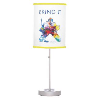 Bring It Hockey Goalie Watercolor Table Lamp