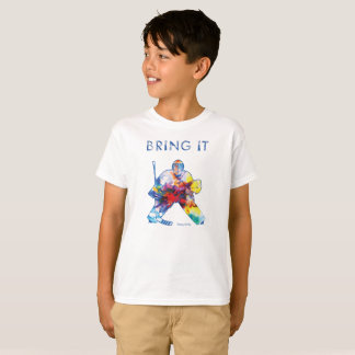 Bring It Hockey Goalie Watercolor Youth T-Shirt