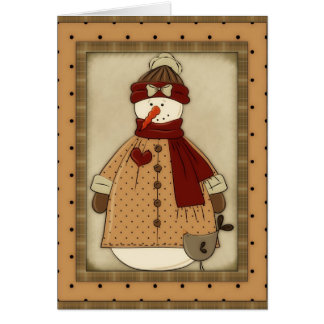 Bring it On Snowgirl (Winter) Greeting Card