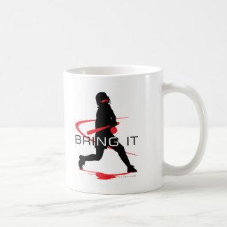 Bring it Red Batter Softball Coffee Mug