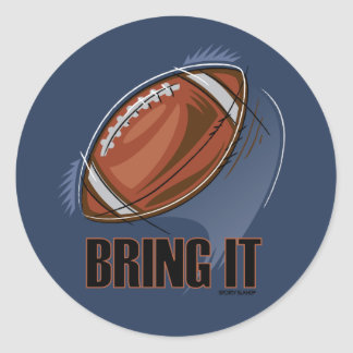 BRING IT - SPORTY SLANG - Football Sticker