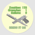 Bring on the Zombies Round Sticker