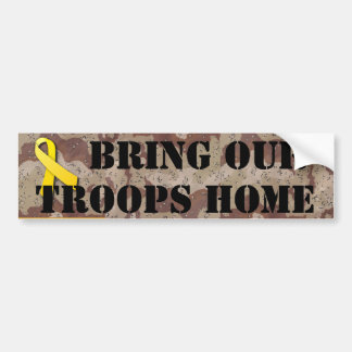 BRING OUR TROOPS HOME BUMPER STICKER