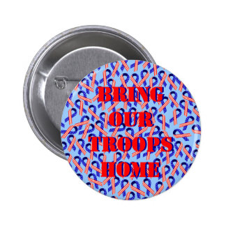 Bring Our Troops Home USA Ribbons 2 Inch Round Button