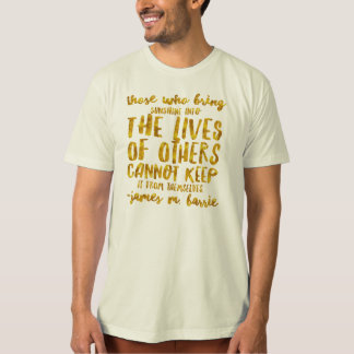 Bring Sunshine to Others Barrie Motivational Gold T-Shirt