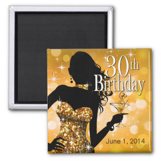 Bring the Bling Sparkle 30th Birthday | gold Magnet