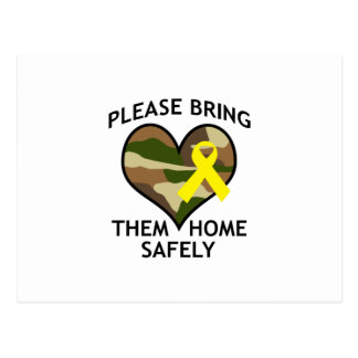 BRING THEM HOME SAFELY POSTCARD