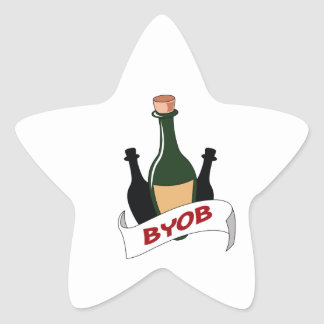BRING YOUR OWN BOOZE STAR STICKER
