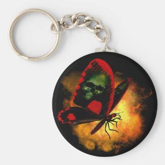 """Bringer of Death"" Butterfly Basic Round Button Keychain"