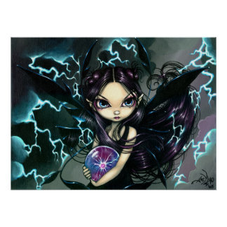 Bringer of Lightning ART PRINT Storm Fairy