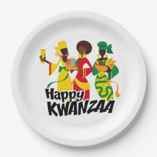 Bringing Celebration Kwanzaa Party Paper Plates