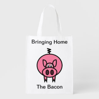 Bringing Home The Bacon Reusable Grocery Bag