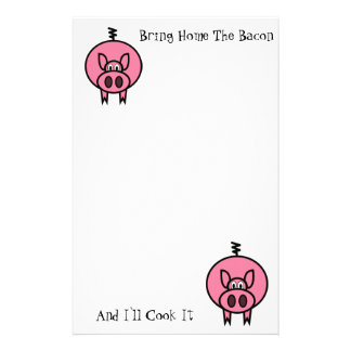 Bringing Home The Bacon Stationery