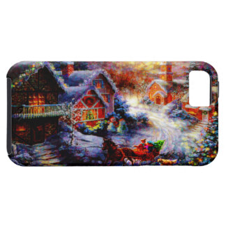 Bringing Home The Christmas Tree iPhone 5 Cases