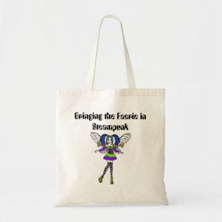 Bringing The Faerie In Steampunk Tote Bag