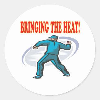 Bringing The Heat Round Sticker