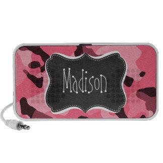 Brink Pink Camo; Camouflage; Retro Chalkboard Mini Speaker