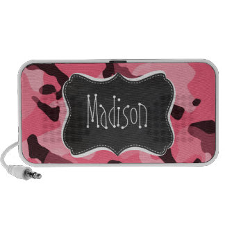 Brink Pink Camo; Camouflage; Retro Chalkboard iPod Speakers