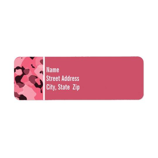 Brink Pink Camo; Personalized Return Address Label