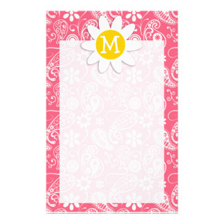 Brink Pink Paisley; Cute Daisy Stationery Design