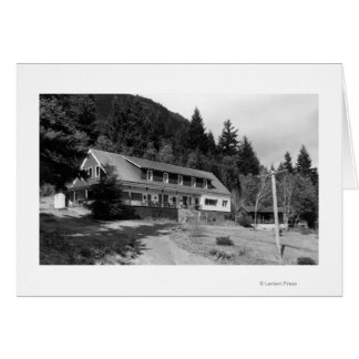 Brinnon, WA View of Olympic Inn on Hood Canal Card