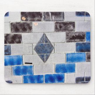 briques de noir bleu tapis de souris