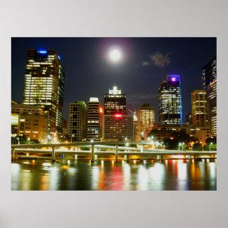 Brisbane at night poster