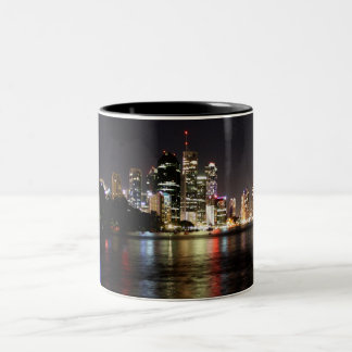 Brisbane at Night Two-Tone Coffee Mug