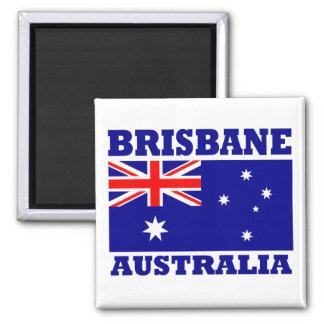 Brisbane Australia Flag Square Magnet