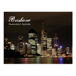 Brisbane by Night Postcard