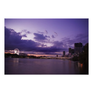Brisbane City and River Poster