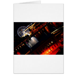 BRISBANE CITY AT NIGHT AUSTRALIA CARD