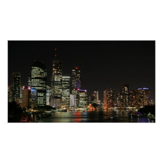 Brisbane City by Night - Poster