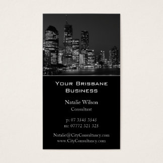 Brisbane City Skyline - Business Card