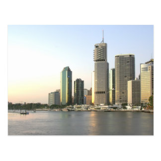 Brisbane city skyline postcard