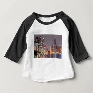 Brisbane Night Skyline Baby T-Shirt