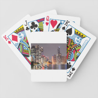 Brisbane Night Skyline Bicycle Playing Cards