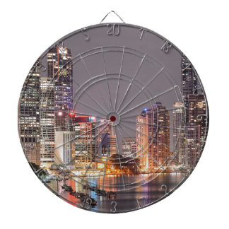 Brisbane Night Skyline Dartboard