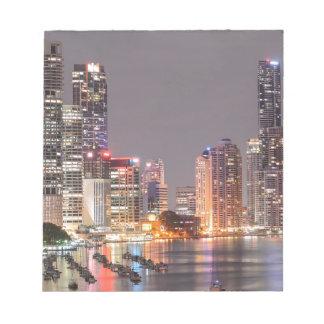 Brisbane Night Skyline Notepad