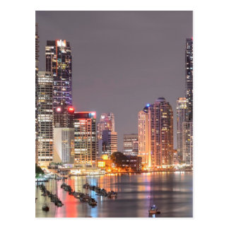 Brisbane Night Skyline Postcard