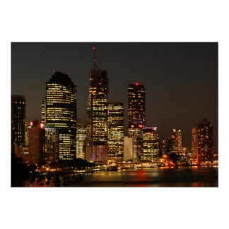 Brisbane Night Skyline. poster